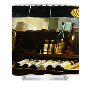 Japanese Kitchen And Sake Selection Shower Curtain
