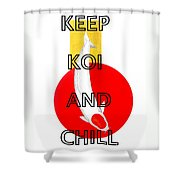 Japanese Koi Tancho Red And Gold Painting Shower Curtain