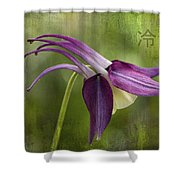 Japanese Serenity Columbine Blossom Shower Curtain