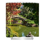 Japanese Spring - The Japanese Garden Of The Huntington Library. Shower Curtain