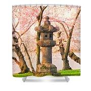 Japanese Stone Lantern Shower Curtain