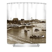 Japanese Tea Garden Glass Bottom Boats At Lovers Point Pacific Grove California Circa 1907 Shower Curtain