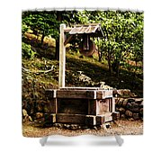 Japanese Tea Garden Well Shower Curtain