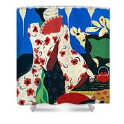 Japanese Tea Shower Curtain