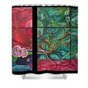 Japanesse Flower Arrangment Shower Curtain