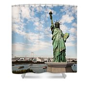 Japan's Statue Of Liberty Shower Curtain