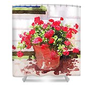 Jardines Shower Curtain