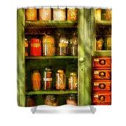 Jars - Ingredients II Shower Curtain by Mike Savad