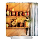 Jars - Kitchen Shelves Shower Curtain