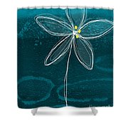 Jasmine Flower Shower Curtain by Linda Woods