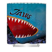 Jaws Boat Bow Shower Curtain