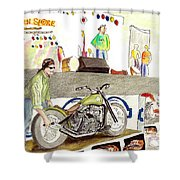 Jay Allen At The Broken Spoke Saloon Shower Curtain