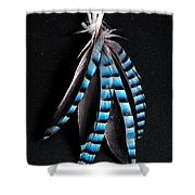 Jay Feather 2 Without Text Shower Curtain