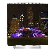 Jay Pritzker Pavilion Chicago Shower Curtain