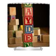Jayden - Alphabet Blocks Shower Curtain