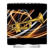 Jazz Art Trumpet Shower Curtain