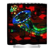 Jazz At Midnight Shower Curtain