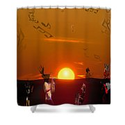 Jazz Fest Shower Curtain
