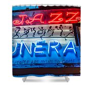 Jazz Funeral And Lamp Nola Shower Curtain