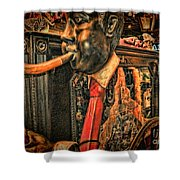 Jazz Funeral New Orleans Vintage Shower Curtain