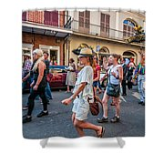 Jazz Funeral...the Second Line 4 Shower Curtain