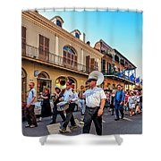 Jazz Funeral...the Second Line   Shower Curtain
