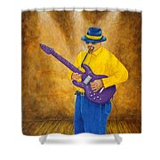 Jazz Guitar Man Shower Curtain