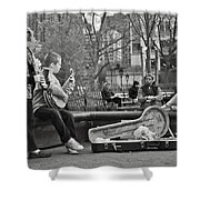 Jazz In The Park Shower Curtain