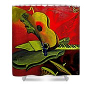 Jazz Infusion Shower Curtain
