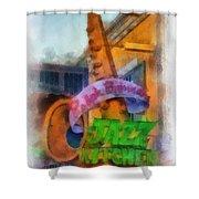 Jazz Kitchen Signage Downtown Disneyland Photo Art 01 Shower Curtain