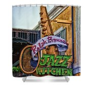 Jazz Kitchen Signage Downtown Disneyland Shower Curtain