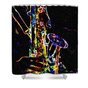 Jazz Lights Shower Curtain
