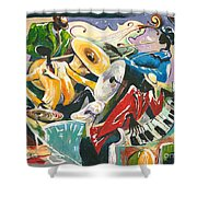 Jazz No. 3 Shower Curtain