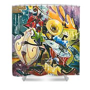 Jazz No. 4 Shower Curtain