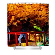 Jazz On The Caverns Shower Curtain
