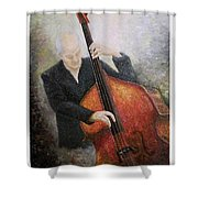 Jazz Player Shower Curtain