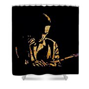 Jazz Player From New Orleans Shower Curtain