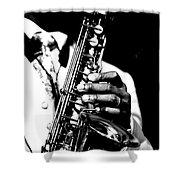 Jazz Saxophonist Shower Curtain