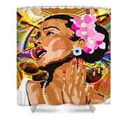 Jazz Singer Shower Curtain