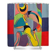 Jazzamatazz Saxophone Shower Curtain