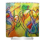 Jazzband 21 Shower Curtain