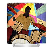 Jazzy Drummer Shower Curtain