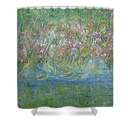 je t'aime Monet Shower Curtain