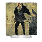 Jean Baptiste Faure In The Opera Hamlet By Ambroise Thomas Shower Curtain