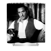 Jean Dujardin In The Film The Artist Shower Curtain