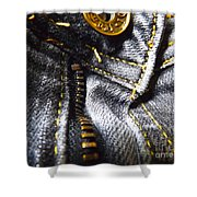 Jeans - Abstract Shower Curtain