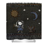 Jeans Stitches Shower Curtain