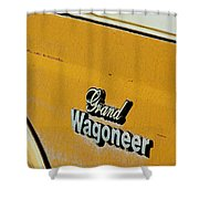 Jeep Grand Wagoneer Side Emblem Shower Curtain