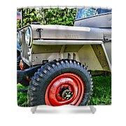 Jeep Willys Ww2 Shower Curtain