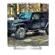 Jeep Wrangler Shower Curtain